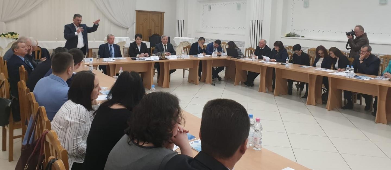 """17.04.2019 - FSNPPC, prezentă la Conferința internațională a fraților de peste Prut, Federația Sindicatelor din R. Moldova ,,SINDLEX"""""""