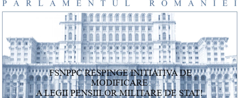 30.05.2019 - COMUNICAT: FSNPPC respinge inițiativa legislativă de modificare a Legii nr. 223/2015
