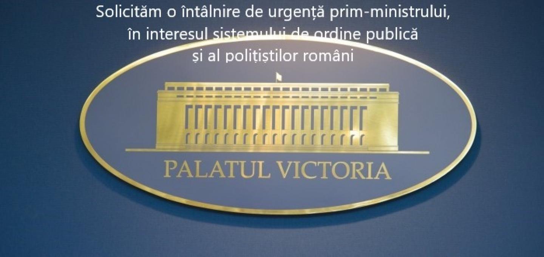 04.06.2019 - Solicitare adresată prim-ministrului Viorica Dăncilă, pe tema subfinanțării Poliției Române, care afectează siguranța publică și drepturile  polițiștilor