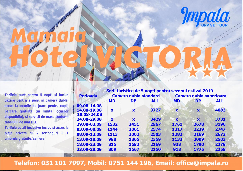 """LITORAL ROMÂNIA 2019 - oferte avantajoase la Marea Neagră, prin ,,Impala Grand Tour"""" - o agenție asigurată, licențiată și credibilă, marca SNPPC! Ofertele sunt disponibile oricărei persoane interesate"""