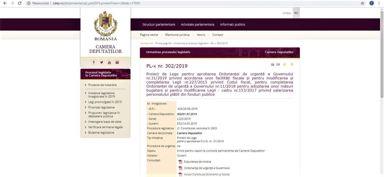 26.09.2019 - COMUNICAT:  Solicitare adresată Camerei Deputaților (for decizional)  pentru majorarea normei de hrană, retroactiv, de la 1 ianuarie 2019
