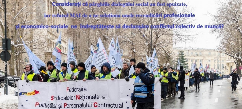 24.02.2020 - CONSULTAREA MEMBRILOR ȘI A LIDERILOR FSNPPC/SNPPC  cu privire la oportunitatea declanșării unor forme de  PROTEST SINDICAL
