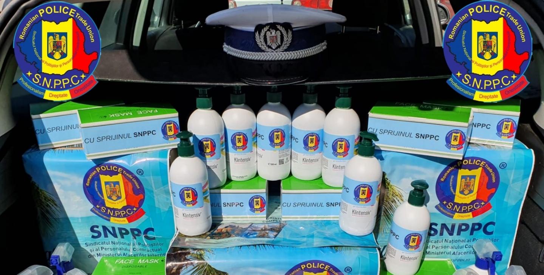 10.04.2020 - Cantități substanțiale de materiale de protecție acordate polițiștilor  și personalului contractual de către SNPPC