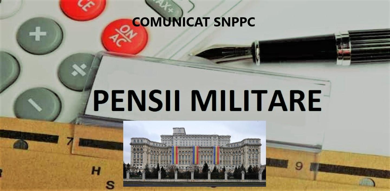 21.01.2021    -  COMUNICAT:  Recalcularea pensiilor militare de stat, la nivelul Poliției Române,  va fi finalizată până la data 26 februarie a.c.  În mod similar se va proceda și la Poliția de Frontieră