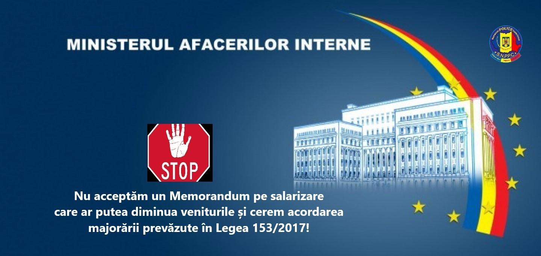 06.05.2021 - COMUNICAT:  Discuții FSNPPC- MAI, pe tema Memorandumului pe salarizare,  inițiat de Ministerul Muncii