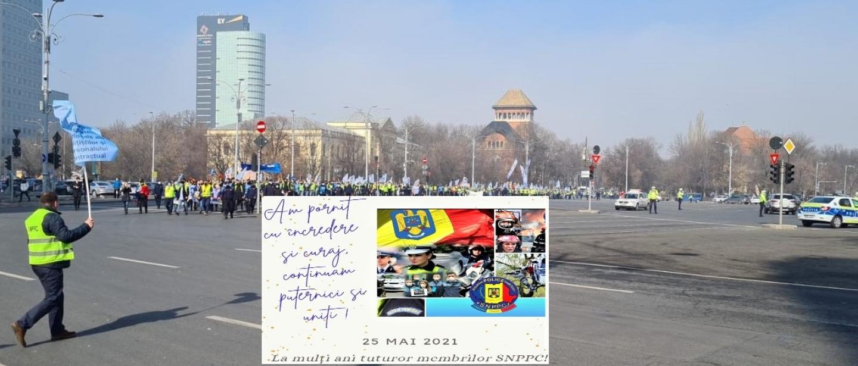 25.05.2021 - COMUNICAT:  POLIȚIȘTII CONTINUĂ PROTESTELE!  Ieșim din nou în stradă, pentru drepturile angajaților și rezerviștilor!