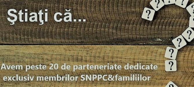 13.05.2019 -BENEFICII EXCLUSIVE PENTRU MEMBRII SNPPC&FAMILII: VACANȚE, TELEFONIE MOBILĂ, SĂNĂTATE, ASIGURĂRI, CULTURĂ, SPORT, COMBUSTIBILI, AUTOMOBILE ETC.