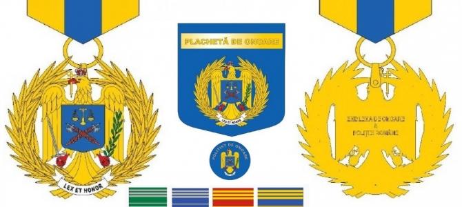 Curier juridic - Distincțiile care pot fi conferite, cu titlu onorific, în cadrul Poliției Române, pentru merite deosebite sau la trecerea în rezervă (modelele pot fi vizualizate în Anexele OMAI nr. 66/2014 si 55/2019)