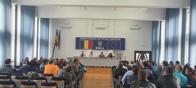 18.11.2019 - Un nou Biroul Teritorial Executiv SNPPC, ales la IPJ Brăila