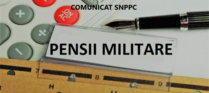 05.12.2019 -  SNPPC monitorizează regimul juridic al pensiilor militare de stat și va informa, în timp util, despre eventualele proiecte legislative puse în dezbatere publică