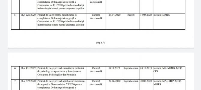 Comunicat 22 iulie 2020 - Vot final în Comisia pentru muncă și protecție socială plx 199/2020