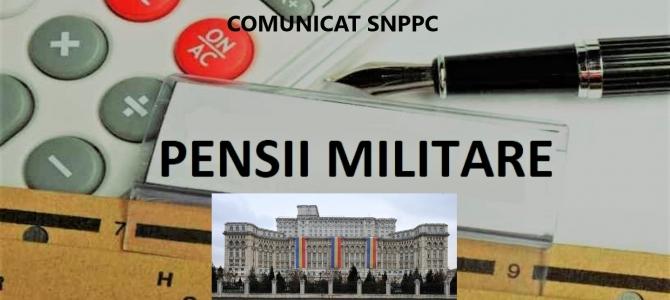 13.10.2020  -  PRECIZĂRI  pentru pensionarii militari care provin din structurile polițienești