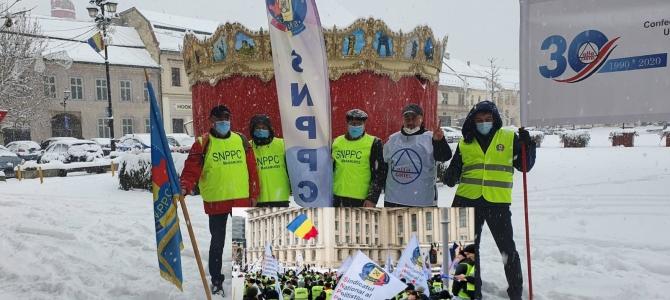 14.01.2021 -  COMUNICAT FSNPPC/SNPPC:  Caravana protestelor pleacă, astăzi, de la Baia-Mare, spre București