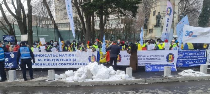 25.01.2021 - CARAVANA PROTESTELOR FSNPPC, săptămâna 25/29 ianuarie 2021; calendarul manifestărilor (organizate individual sau în comun cu alte sindicate  din Cartel ALFA/ MAI/Ministerul Justiției)
