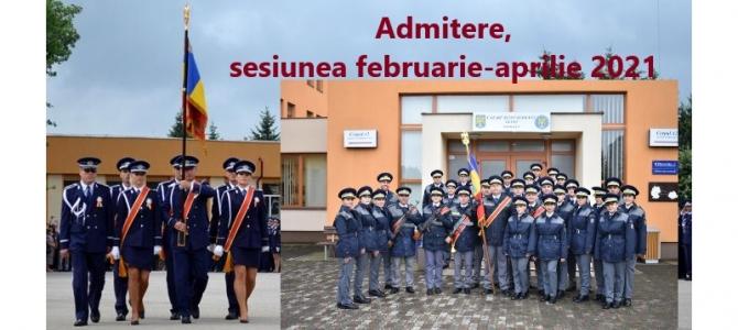 18.02.2021 - 1.703 locuri, scoase la concurs de către MAI, pentru admiterea în Școlile de agenți de poliție/poliție de frontieră. Termenul limită pentru depunerea Cererilor-tip de înscriere: 28.02.2021