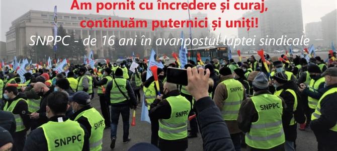 24.03.2021   - COMUNICAT:  După consultarea organizațiilor teritoriale SNPPC, am decis:  CONTINUĂM PROTESTELE!    Mâine, de Ziua Poliției, vă așteptăm la Guvern, la ora 10,00
