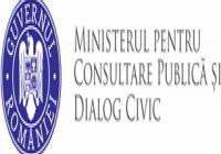 INFORMARE - întâlnire cu ministrul pentru Consultare Publică şi Dialog Civic