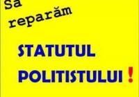 17.08.2017 - Aşteptăm propuneri pentru Statutul poliţistului