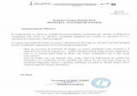 Adresa referitoare la voucherele de vacanta, care a fost trimisa ministrului Afacerilor Interne