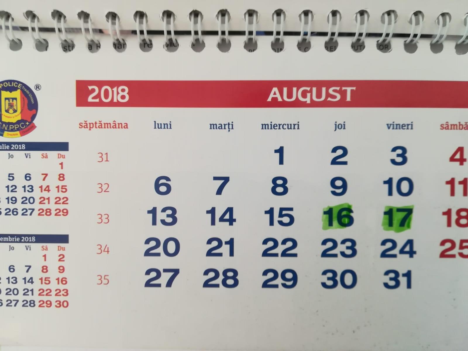 13.08.2018 - Cum vor fi plătiţi cei care vor lucra în zilele de 16-17 august a.c.