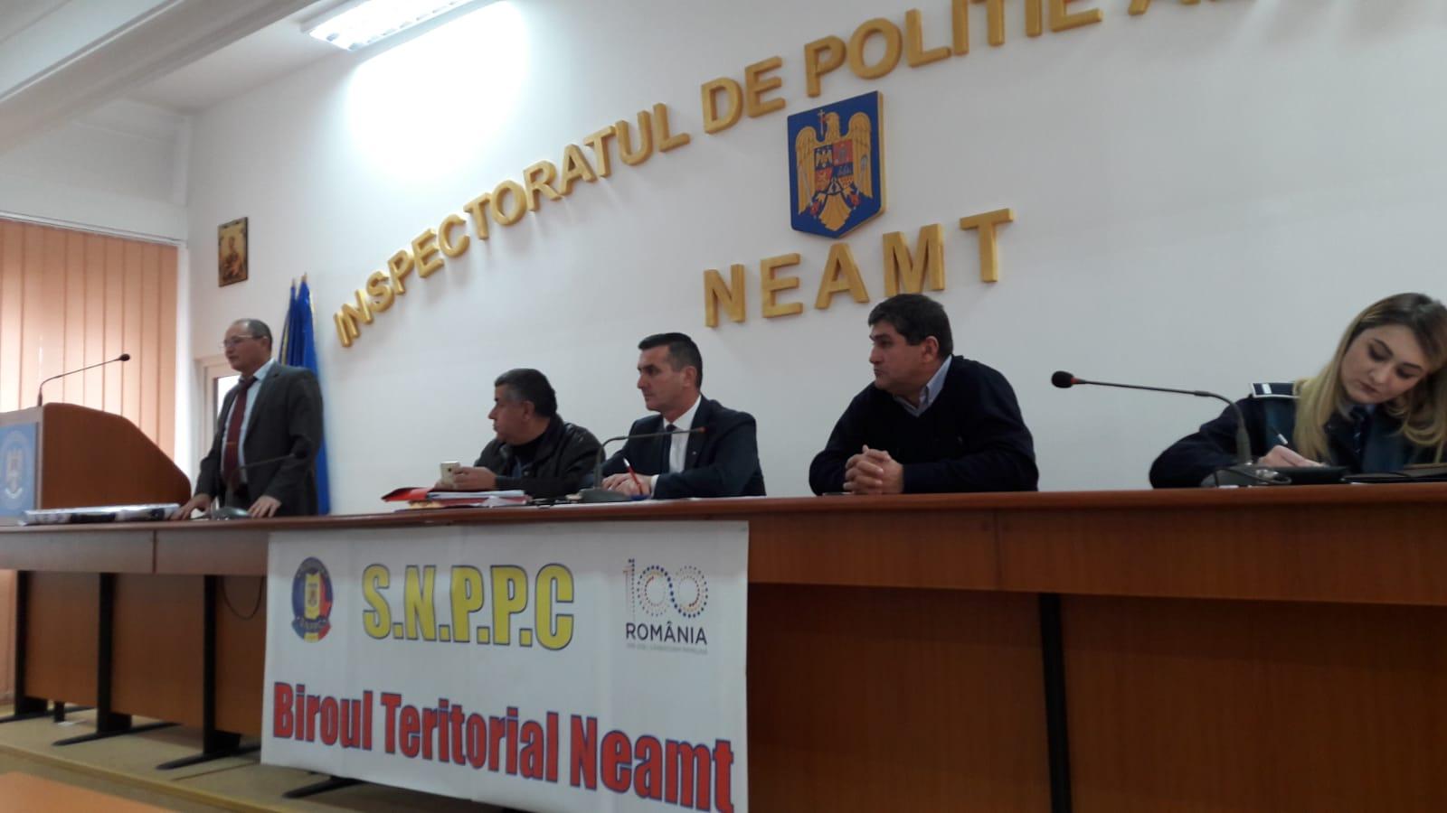 23.11.2018 - Alegeri pentru conducerea  Biroulului Teritorial SNPPC – IPJ Neamţ
